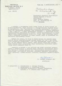 Pismo ówczesnego prowincjała - o. Leonarda Głowackiego OMI